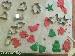 mini play dough ornaments