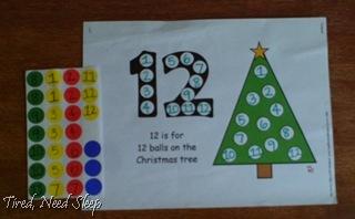 number sticker match