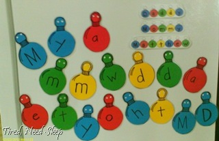 magnetic ornaments for spelling names