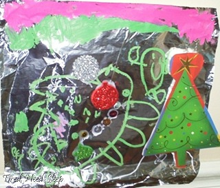 sparkly foil collages (3)