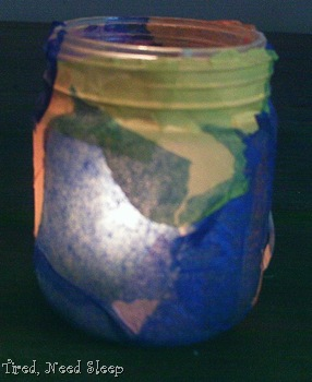 back of finished candle