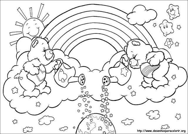 desenhos ursinhos carinhosos para colorir