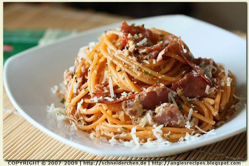 Low-fat Spaghetti alla Carbonara