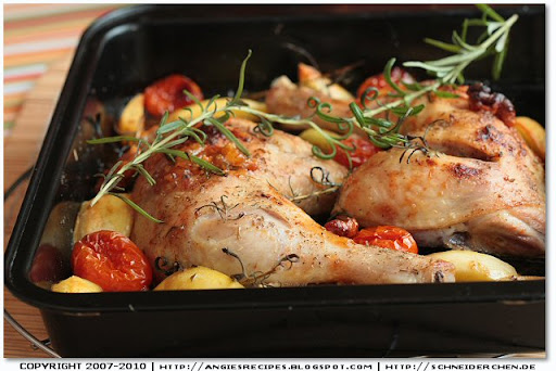 ... chicken thighs with Ariosto spice mix , fresh rosemary and maple syrup