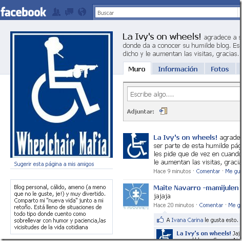 Facebook - La Ivy's on wheels!