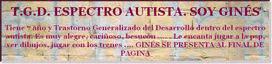 T.G.D. ESPECTRO AUTISTA. SOY GINÉS-