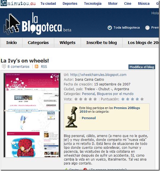 Blogs - laBlogoteca, La Ivy's on wheels!