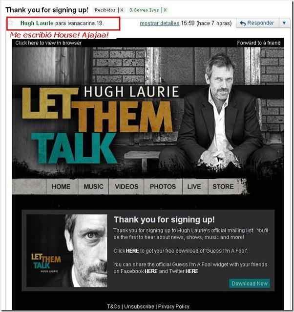 Me escribio Hugh