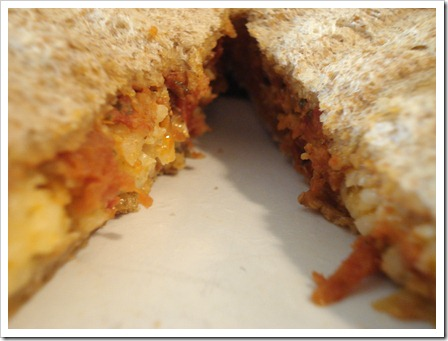 Grilled cheese & sun dried tomato pesto panini
