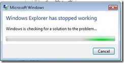 Windows Explorer Stopped Working error