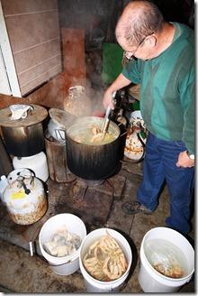 cooking crabs