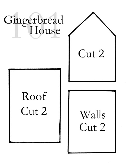 It is a picture of Tactueux Gingerbread House Templates Printable