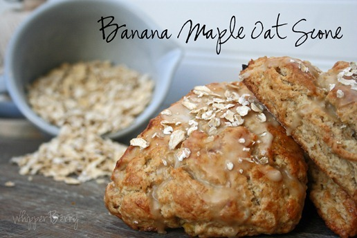 Banana Maple Oat Scone