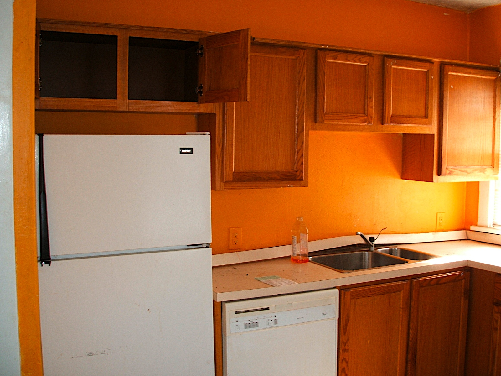 Orange Kitchen Walls With White Cabinets wall paint colors for small kitchens wall paint colors for small