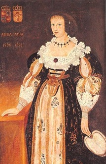 Princess Anna Vasa, Sigismund&#8217;s sister at Polish exile