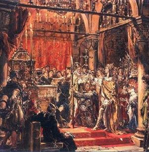 Coronación de Boleslao el Bravo primer Rey de Polonia 1001 Jan Matejko