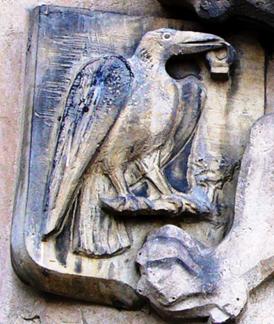 Blason de Matías Corvino. Relieve en Olomuc (Moravia) Reino de Bohemia 1479. Detalle