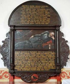 Monumento funerario con epitafio de Andrés Kochanowski de Korwin (1542-1596)