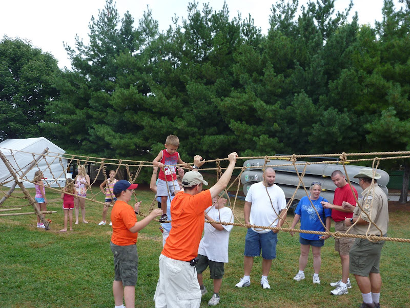 Carmel Boy Scouts Carmel Boy Scout Troop 132 Builds Monkey Bridge at Indiana State Fair.
