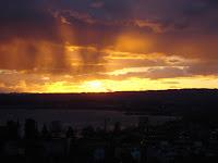 Sonnenuntergang über dem Zugersee