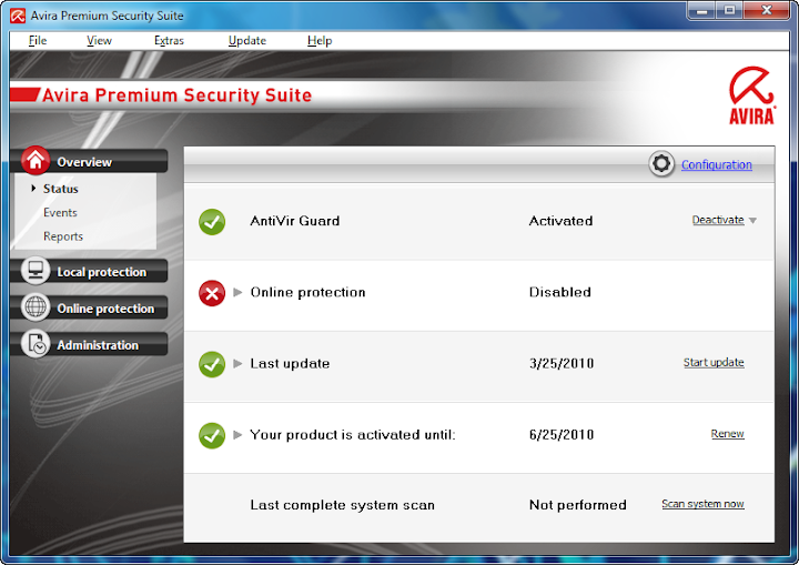 Open reg key Avira AntiVir Premium & Avira Premium Security Suite 10.0.0.542 Avira-premium-security-10