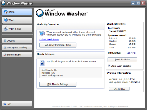 Free Download Webroot Window Washer 6.5