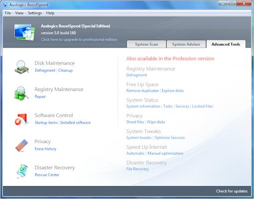 Download Auslogics BoostSpeed 5 SE for FREE