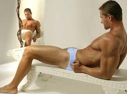 Hot Muscle Men in Colored Underwear