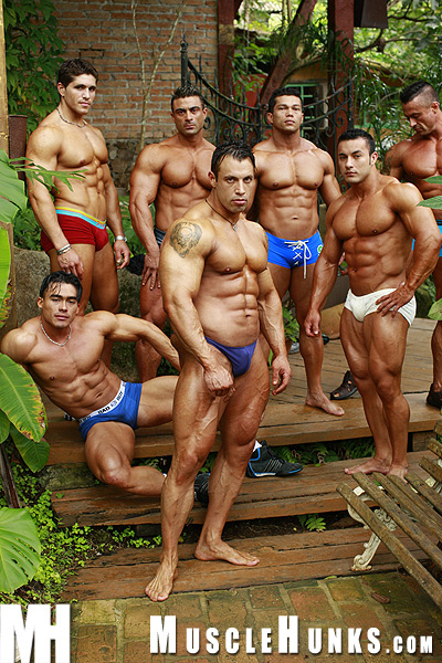 Muscle Hunks Dick Ruggeiro and a Few Buddies