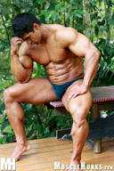 Jerome Manaus Huge Muscle Man, Bodybuilder from MuscleHunks