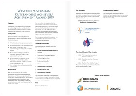 WA T&L Award Brochure 2009 - Spread(Sml) copy