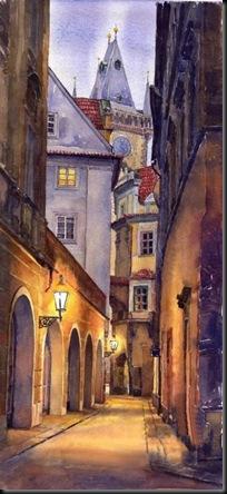 prague old street-yuriy shevchuk