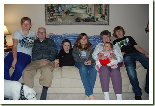 DadDad & G'ma with 5 great grands