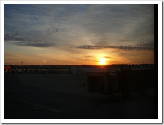 Sunrise at Sioux Falls airport