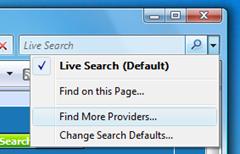 default search engine IE7