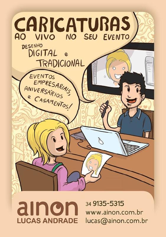 Divulgação - desenho de caricaturas - Ainon
