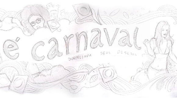 esboço desenho outdoor - Topas - Carnaval - 2