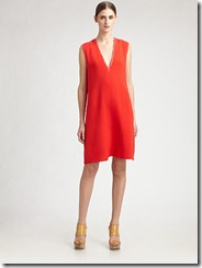 Costume National Silk V-Neck Dress