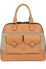 Chloé Billie Large Leather and Linen Tote