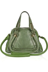 Chloé Paraty Small Python and Leather Bag