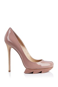 Camilla Skovgaard Blush Pink Stiletto Saw Sole Pump