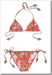 Zimmermann Embellished floral-print triangle bikini a