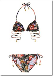Zimmermann Ebony Rose frilled triangle bikini a