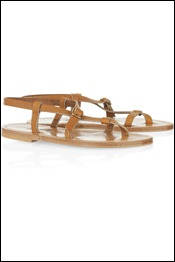 K Jacques St Tropez Jival flat leather sandals