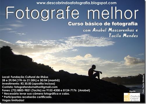Cartaz do curso basico de fotografia