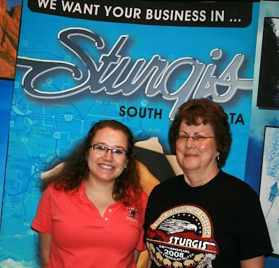 Danielle visits the Sturgis Economic Development booth