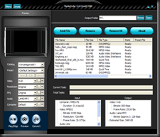 MediaCoder skinned user interface