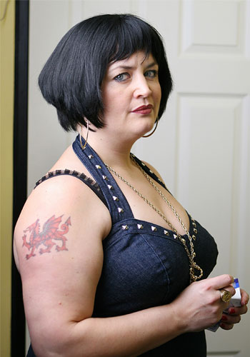 Ruth Jones in costume as Nessa (Gavin & Stacey)