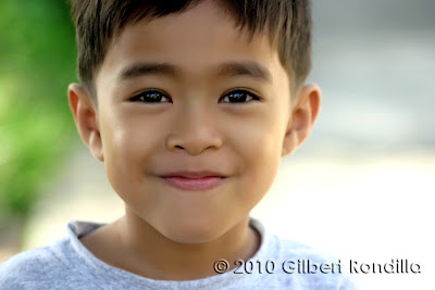Portrait of an Asian boy, Philippines