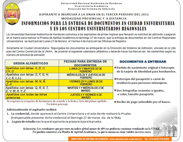 calendario-entrega-documentos-unah-2011-paa